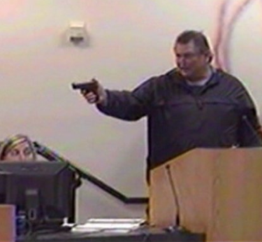 ... with affiliated local TV stations, CNN on Tuesday broadcast Panama City,  FL footage of a man threatening a Bay District school board meeting, ...